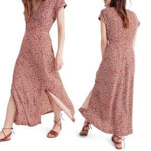 Madewell Woodblock Floral Maxi Dress